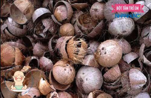cách trị lác từ gáo dừa