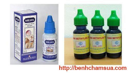 Sử dụng thuốc sát khuẩn giúp các vết thương trên da bé nhanh khô - chữa bệnh chàm cho trẻ sơ sinh