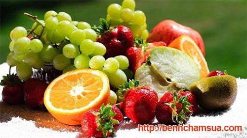 Chàm sữa nên ăn nhiều hoa quả, rau xanh - Bé bị chàm sữa mẹ nên ăn